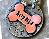 Pet id tag / Sophia Multi Metal Bone