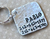 Pet id tag / Pablo Square NEW FONT Wackadoodle