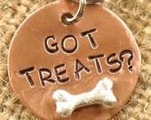 GOT TREATS Pet Tag - ID info on the back