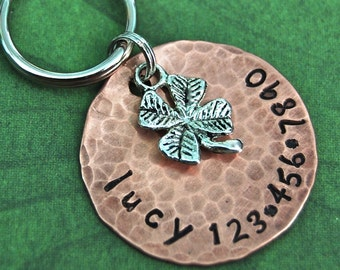 Lucky Charm ID Tag    one inch copper pet tag