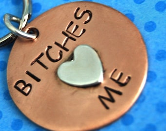 BITCHES LOVE ME Pooch tag  id info on the back