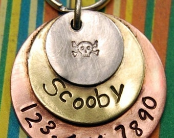 Multi Metals Collection Soldered - NO Jingle Jangle - Pet Id Tag or can be worn as Jewelry by the Human Variety