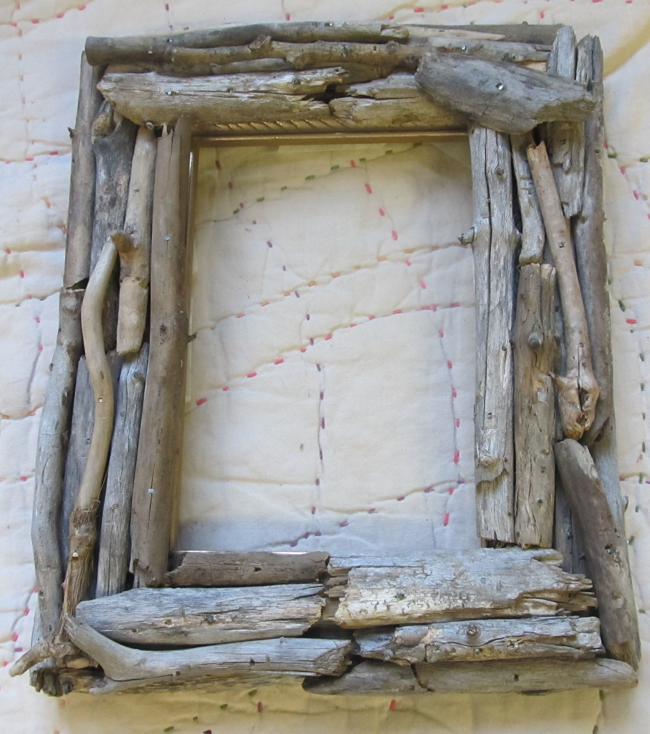 Driftwood Frame Great Lakes Hand Crafted Beach Nature 5 By 7