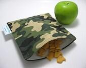 SALE... Green Camo Eco-Green Sandwich Bag