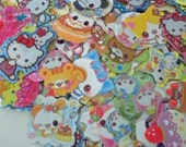 Kawaii Sticker Flakes - Set of 25 - and FREEBIES