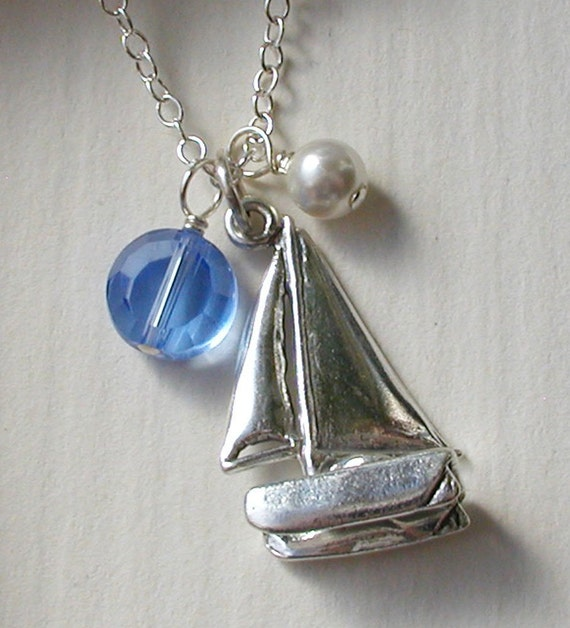Sailboat Sterling Silver Necklace
