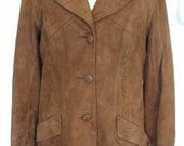New England Sportswear Company Cocoa Brown Suede Jacket Size M