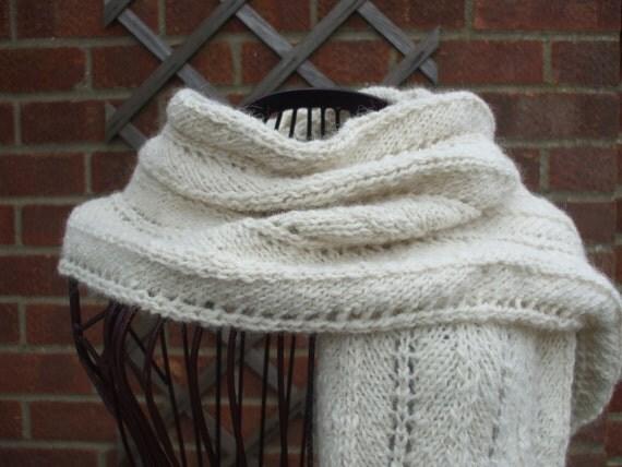 CHEVRON & LACE SCARF knitting pattern