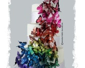 45x 3D Transparent Butterfly Rainbow like Martha Wedding Cake Topper Weddings Decoration Made in the USA