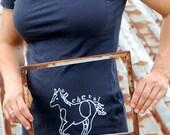 organic un cheval (horse) tshirt
