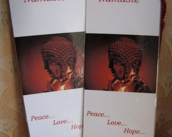 Buddha Custom Fine Art Photo Bookmarks - Namaste Fine Art Photo Bookmark Set Of Two With Tassels