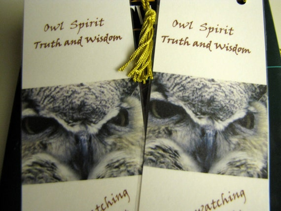 Owl Totem Fine Art Photo Bookmarks Set of Two- Owl Spirit/Nature Bookmarks