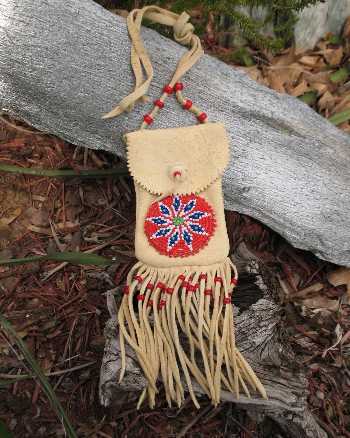 Reserved For Lauren Vintage Native American Beaded Medicine
