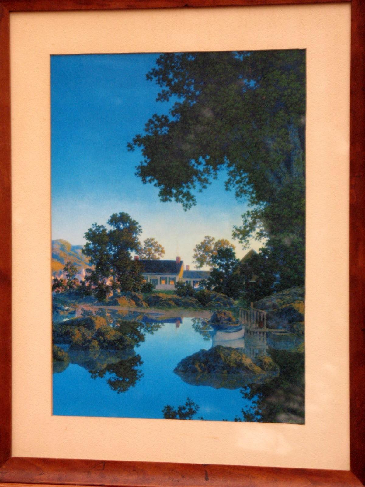 Vintage Rare Maxfield Parrish Art Peace Of Evening 1953