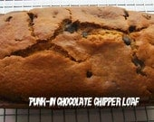 Vegan chocolate chip pumpkin  loaf cake Birthday loaf or family gift
