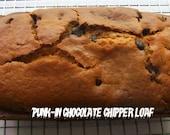 Vegan chocolate chip pumpkin  loaf cake valentine Birthday loaf