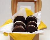 "Vegan Assorted Chocolate Love ""Voopee"" Whoopie Pie Box Perfect Dorm Care Package, or Birthday Summer Camp"