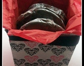 Vegan Chocolate Whoopee Pies with Ripplin Raspberry or Creme Filling Gift Box