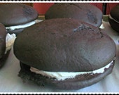 Vegan Chocolate Gift  Whoopee Pies With Vanilla Creme Middles Perfect Birthday and Valentine's Day