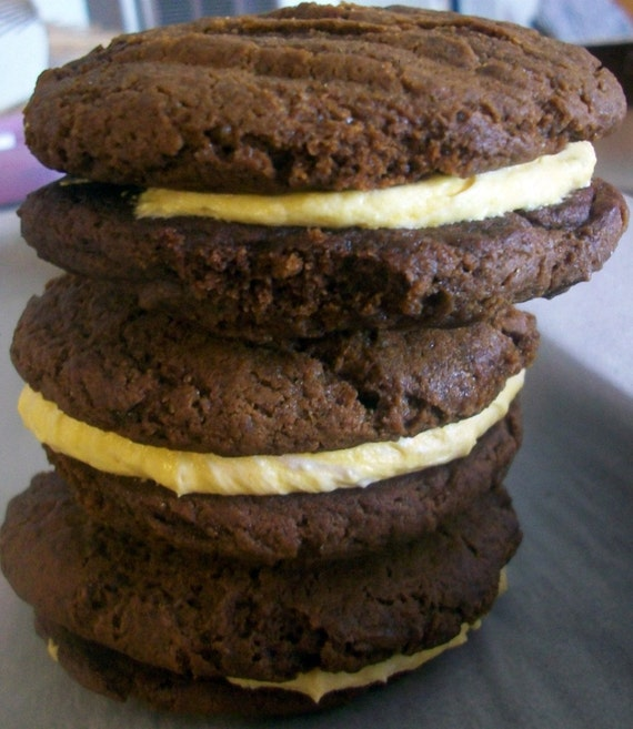 Vegan Molasses Lemon Sandwich Cookie Gift Spice Up somebody's Day Perfect for Birthday, or Surprise Gift