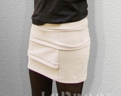 Bottoms Skirts Short Asymmetrical Skirt with Horizontal Panels