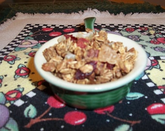 VEGAN-Lolly Doodle Surprise Pineapple Cranberry Pecan Granola with Mixed Fruit- The Very Best. 8 ounces.