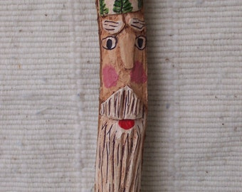 Old World Twig Santa Ornament-Hand Carved-Old World Charm-OOAK-A Christmas Must Have