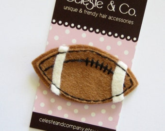 LAST ONE - Football Season Clippie - Babies, Infants and Toddlers -Alligator Clip