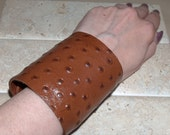 Special Listing for Julie - Ostrich Leather Cuff