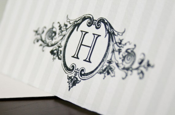 Stately Personalized blank note card  set of 10