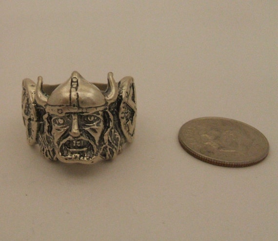 Sterling Silver .925 Viking Ring  size 9