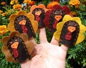 5 Little Turkeys finger puppets (5 pieces and Activity Sheet)