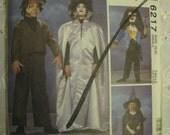 McCall's 6217 Costume Children's Sewing Pattern OOP and Uncut 5 6 Monster Frankenstein Witch Werewolf Weirwolf
