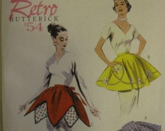Apron Pattern Sewing Pattern and Uncut Retro Butterick 5435  All Sizes Small Medium Large