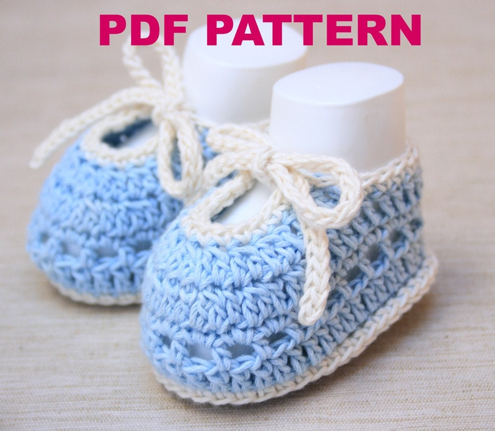 Sweet Summer Crochet Baby Booties PATTERN PDF by ...
