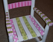 Childrens Rocking Chair. Hand Painted