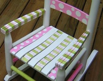 Children's Rocking Chair. Hand painted.