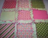 Summer Song Security Blanket - Raggedy Quilt