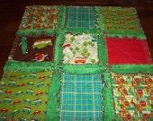 Wheels Security Blanket / Rag Quilt