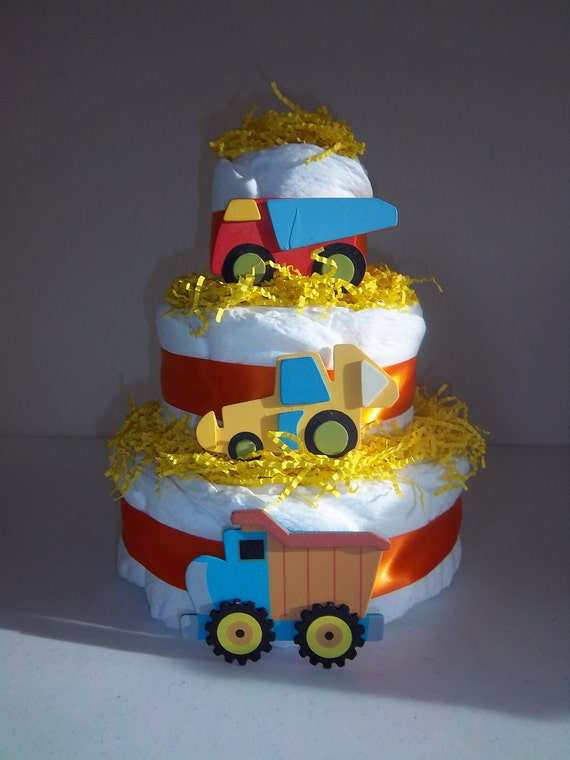 construction diaper cake