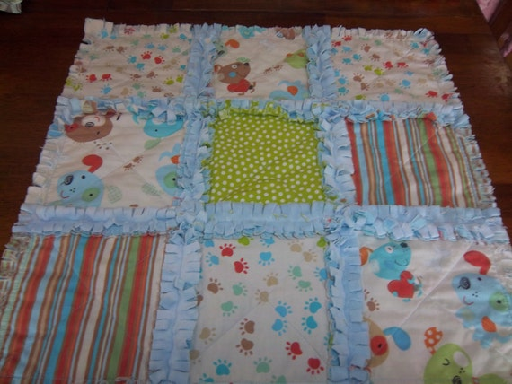 My Little Puppy Security Blanket - Raggedy Quilt