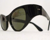Superb, Spare Black Horn Rimmed Cat Eye Frames, Titmus Cabana Sunglasses