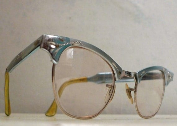 Powder Blue Cat Eye Eyeglass Frames Styl Rite Engraved