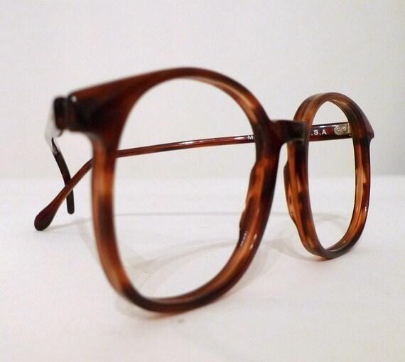 Large Frame Tortoise Shell Glasses : SEASON SALE Big 1980s Tortoise Shell Eyeglasses or Sunglasses