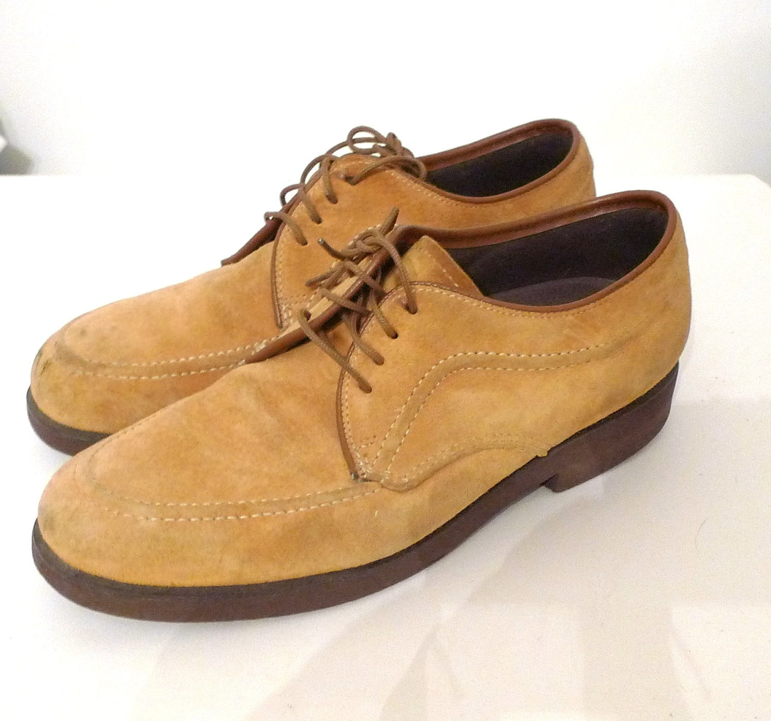 Hush Puppies Oxfords Suede Creepers Fawn Colored Brogues