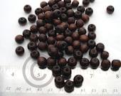 500 Piece Bulk Dark Brown Round Wood BEADS 10mm
