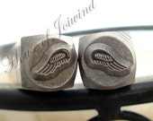 TWO Angel Wing Metal Stamps Punches - BEADSMITH - You get BOTH Left & Right Wings