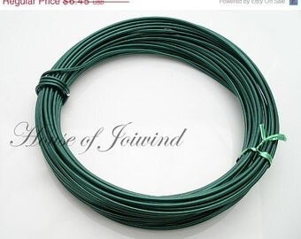 45 Feet Kelly Green 14 Gauge Aluminum Wire for Wire Wrapping, Craft, Beading
