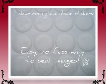 200 - CLEAR 3D Resin Stickers 1 inch Perfect for Bottle Cap Pendants, Necklaces, Magnets, Craft 25mm