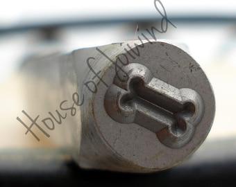 DOG BONE   - Metal Design Stamp Punch 6x4mm Impression